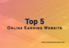 Top 5 Online Earning
