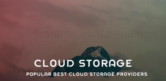 Popular Best Cloud Storage Providers