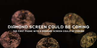 The first phone with a diamond screen could be coming