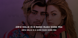 Zayn Malik is a Shah Rukh Khan fan