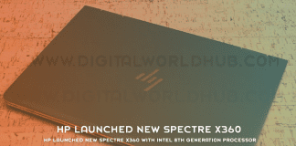 HP Launched New Spectre X360 With Intel 8th Generation Processor