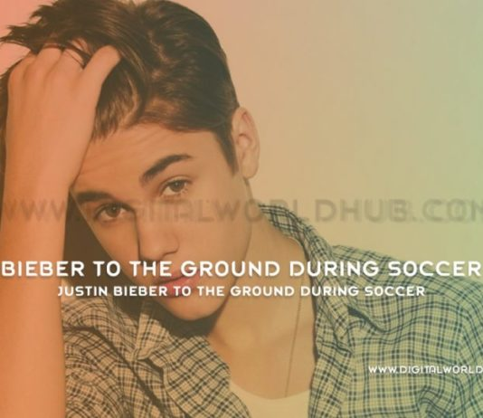 Justin Bieber To The Ground During Soccer