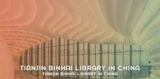 Tianjin Binhai Library In China