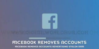 Facebook Removes Accounts Advertising Stolen Data