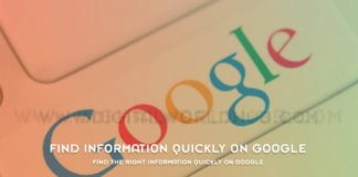 Find The Right Information Quickly On Google