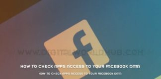 How To Check Apps Access To Your Facebook Data