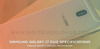 Samsung Galaxy J7 Duo Full Specifications