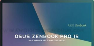 Asus ZenBook Pro 15 with Core i9 CPU