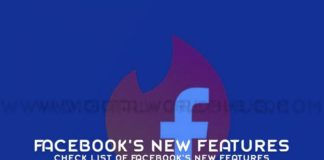 Check List Of Facebooks New Features