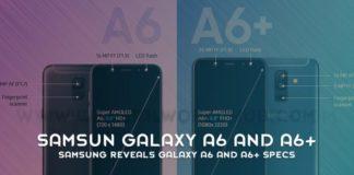 Samsung Reveals Galaxy A6 And A6 Specs