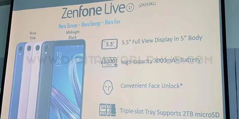 Zenfone Live L1 1 1