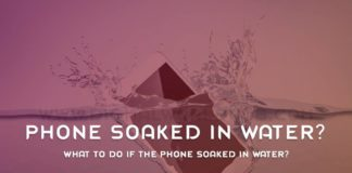 What To Do If The Phone Soaked In Water