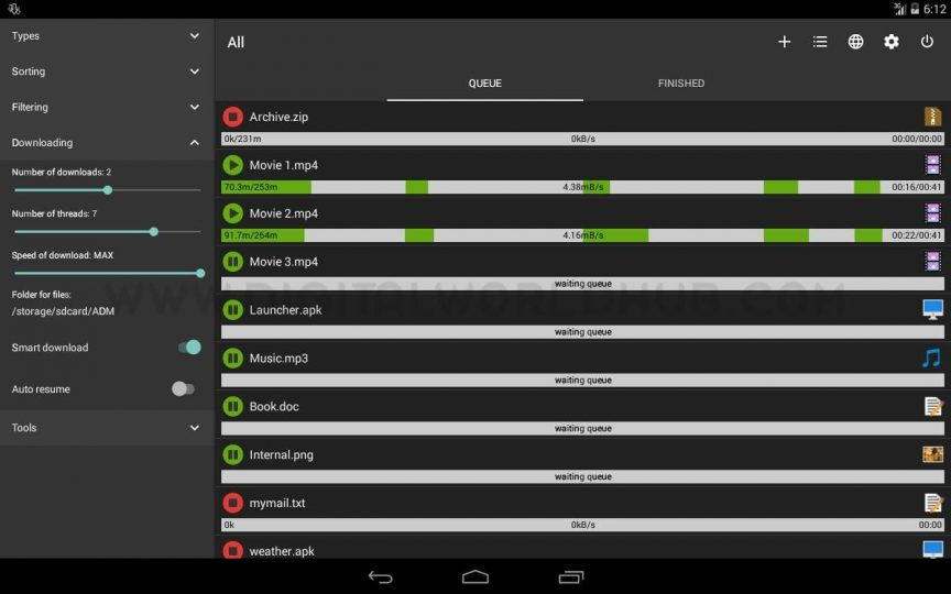 Advanced Download Manager DWH