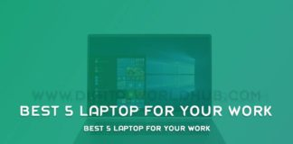 Best 5 Laptop For Your Work