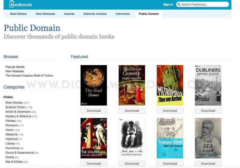 Feedbooks ebooks website