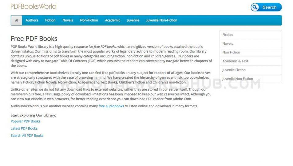 PDF Books World ebooks website