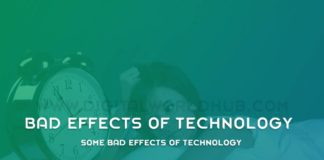 Some Bad Effects Of Technology