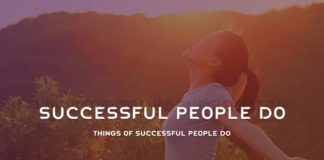 Things Of Successful People Do